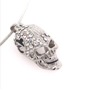 Ghost Ryder Skull Swarovski Pendant